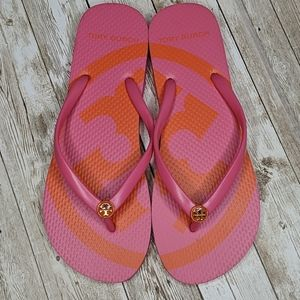 Tory Burch Thin Printed Flip Flop Thong Sandal 7